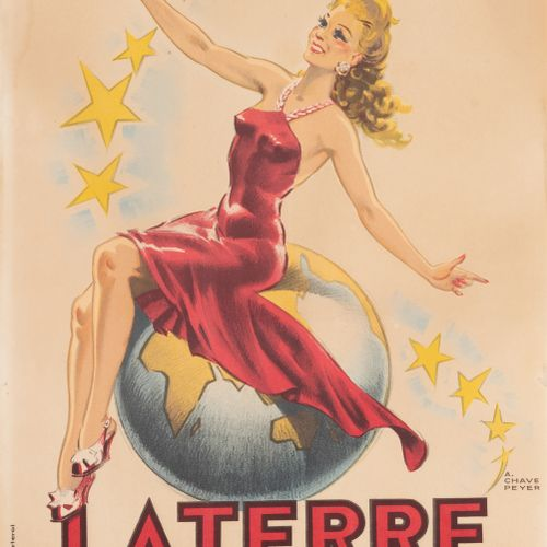 CHAVEPEYER A. Laterre. Aperitif with Quinquina. Liqueur wine. 1946. Lithographic…