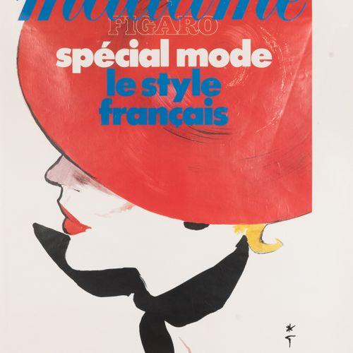 GRUAU René (monogram). Madame Figaro special fashion French Style. 1986. Offset …
