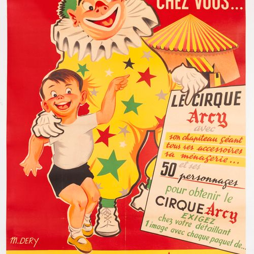 DERY M. Margarine Arcy. Build the Arcy circus at home. Lithographic poster. Prin…
