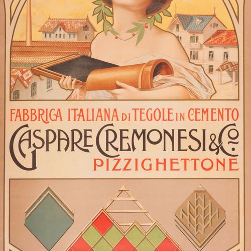 ANONYMOUS. Fabbrica Italiana di Tegole in Cemento Gaspare Cremonesi & Co Pizzigh…