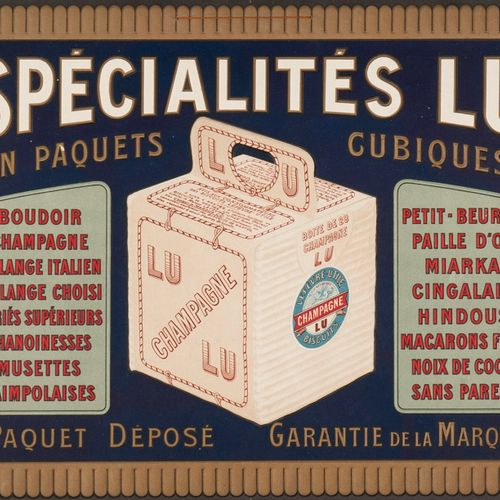 LEFEVRE USEFUL NANTES. LU specialities in cubic packages. Circa 1910. Cardboard …