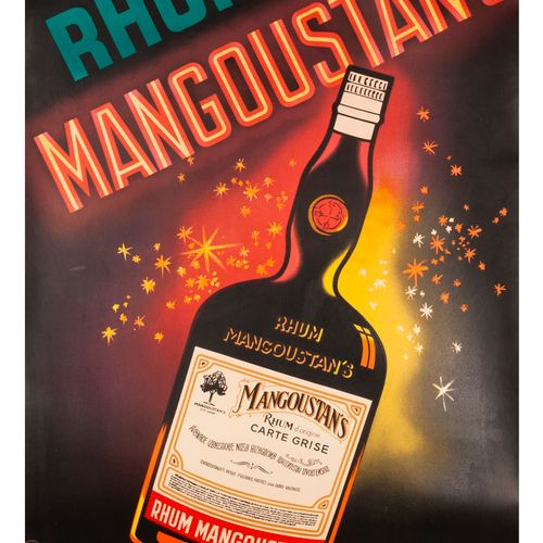 "FALCUCCI Robert. Rum Mangosteen's ""all the aroma of the West Indies"". Lithograph…"