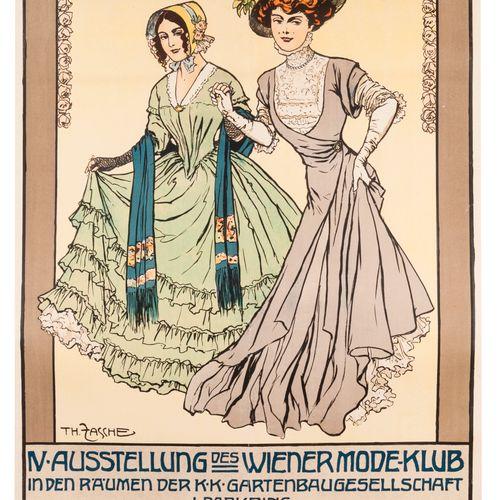 ZASCHE Th. IV Ausstellung des Wiener Mode Klub. 4th Vienna Fashion Fair. Lithogr…