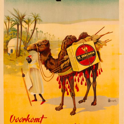 AUZOLLE Marcellin. Gerçuria. Circa 1915. Lithographic poster on glazed paper. Im…