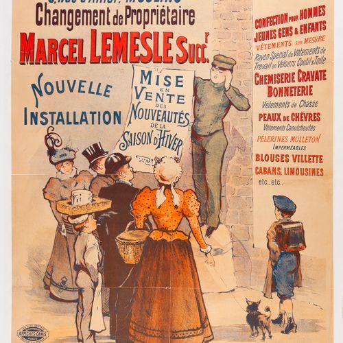 ANONYMOUS. At La Grande Maison. Sale of the winter season's novelties. Lithograp…