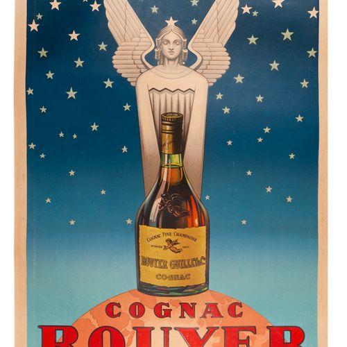ANONYMOUS. Cognac Rouyer. 1945. Lithographic poster. Union Parisienne de Publici…