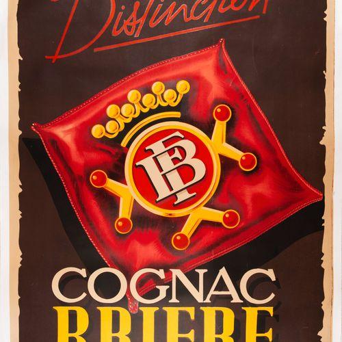 CHAIGNON P. Cognac Brière. Lithographic poster. Continental Diffusion Paris. Cov…