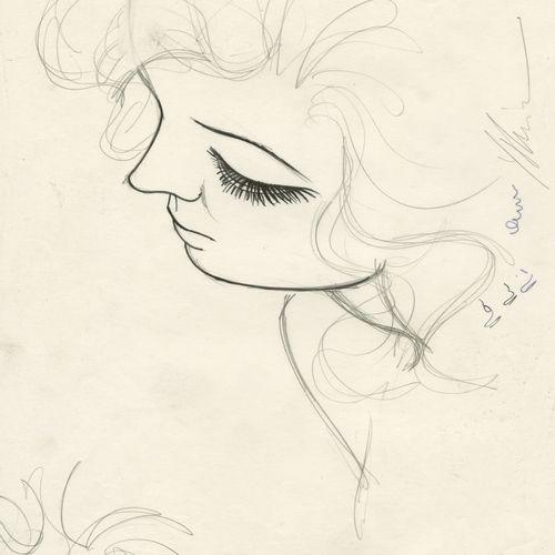 YSLAIRE (NÉ EN 1957) Sambre Julie Technique mixte sur papier. Signé en bas à dro…