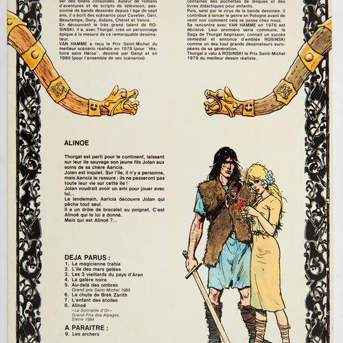 Rosinski dédicace: Thorgal 8, Edition originale agrémentée d'un superbe dessin …