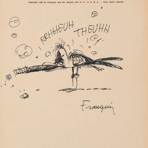 Franquin dédicace: Le dictateur et le champignon, édition originale belge agrém…