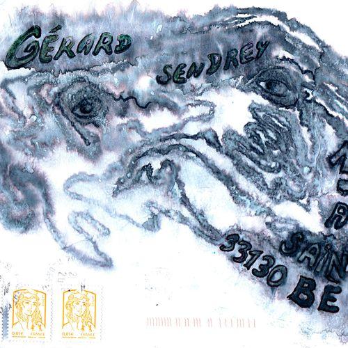 BORY Alain Sans titre / Enveloppe Mail Art / Technique mixte sur papier / Signé …