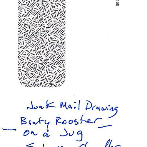 CHANDLER Steven Sans titre / Enveloppe Mail Art illustrée au dos / Technique mix…