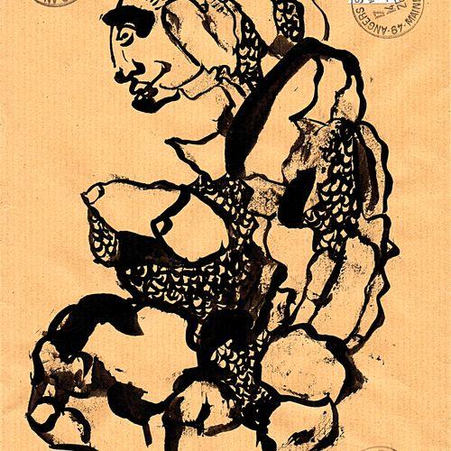 ARNEODO Alain Sans titre (10.810) / Enveloppe Mail Art / Encre sur papier / Sign…