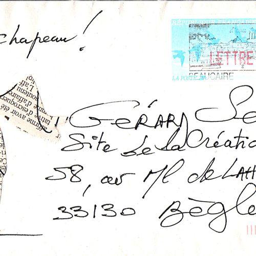 DUPIRE Catherine Chapeau ! / Enveloppe Mail Art / Encre et collage sur papier / …
