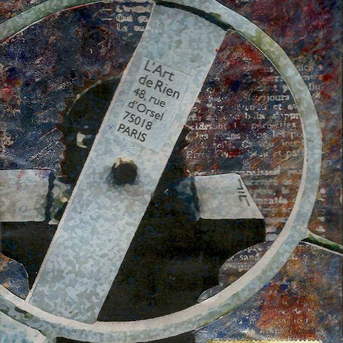 LACROIX Jean Luc L'écluse des mots / Enveloppe Mail Art / Acrylique, collage et …