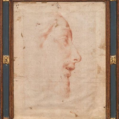 Ecole ITALIENNE, du XVIIème siècle Profile of the Blood Christ , inscription bel…