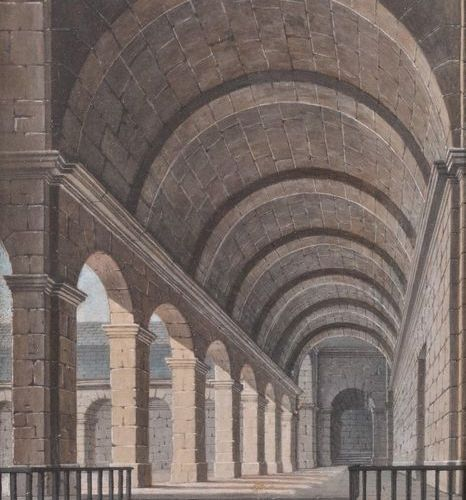 École TROUBADOUR, du XIXème siècle Two projects of decorations: Cloister interio…