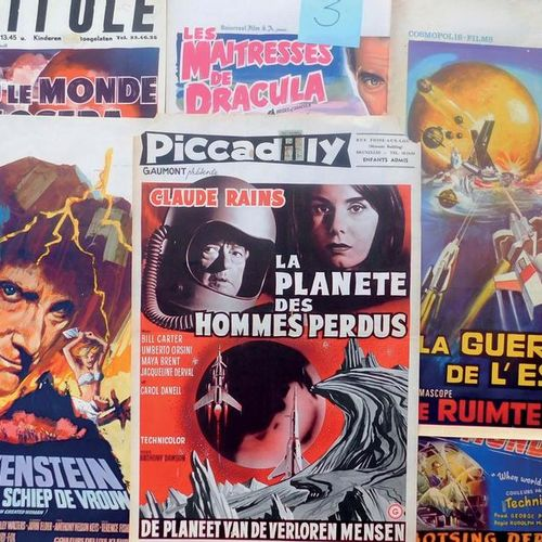 Lot de 55 affiches belges des années 50/60 Dont: Le Roi des Hommes fusées Rocket…