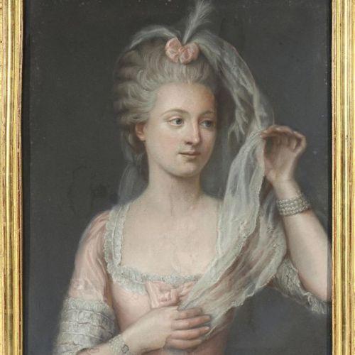 """ÉCOLE FRANÇAISE de la fin du XVIIIe ou du début du XIXe siècle """"Portrait de jeun…"""