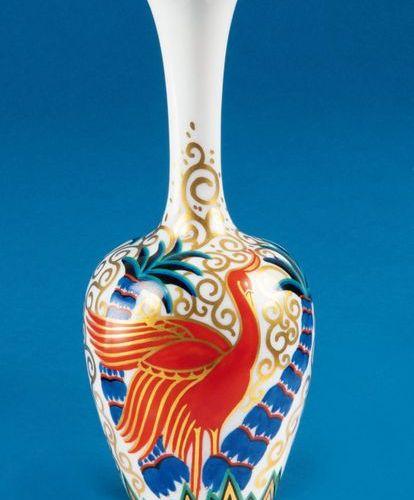 """Vase à col étroit """"Indra"""". Rosenthal 1920. Porcelaine, peinte en couleurs. Numér…"""