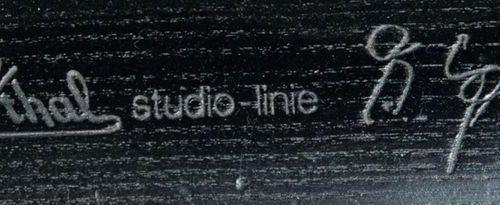Paire de fauteuils. Rosenthal Studio Line, années 1970. Bois de frêne, teinté fo…
