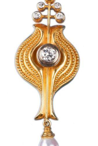 Lapel pin/pendant. Master goldsmith workshop Peter (1932 2015) & Marianne Heyden…