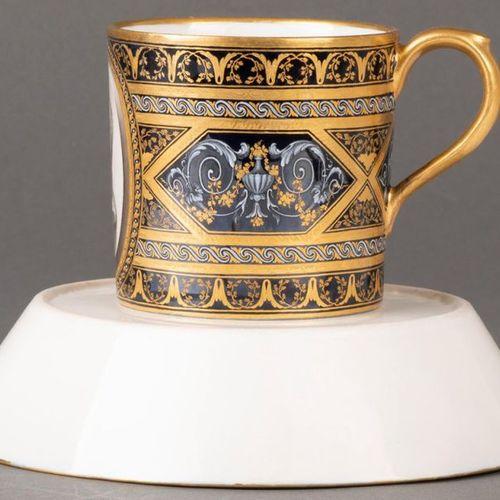 """Cup with saucer """"Antique Glatt"""" Vienna, Conrad von Sorgenthal 1788 Both parts wi…"""