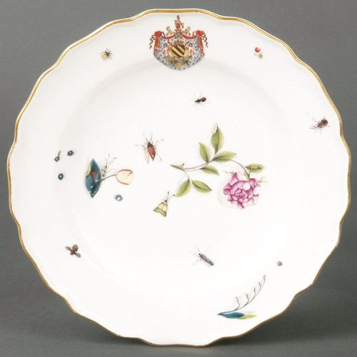 """Bowl from the """"Carlo Francesco Ferrero"""" Meissen coat of arms service 1740 Round …"""
