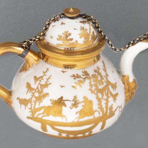 Théière Meissen 1723 25 En forme de balustre, avec poignée en forme de U et bec …