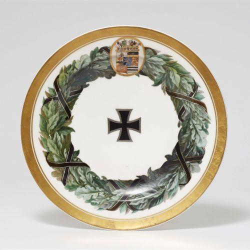 Königliche Porzellanmanufaktur Berlin KPM Speiseteller aus dem Feldherrenservice…