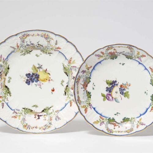 Meissen Königliche Porzellanmanufaktur Speiseteller und Beilagenschüssel aus dem…