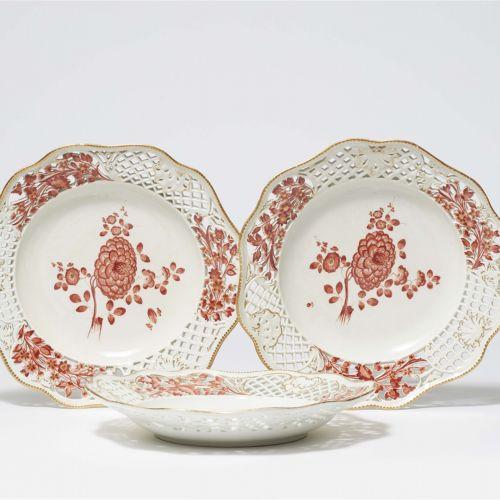 Meissen Königliche Porzellanmanufaktur Drei Dessertteller aus dem Service mit de…