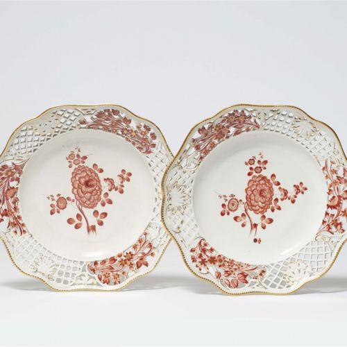 Meissen Königliche Porzellanmanufaktur Zwei Dessertteller aus dem Service mit de…