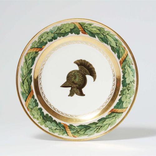 Königliche Porzellanmanufaktur Berlin KPM Seltener Teller aus einem Feldherrense…