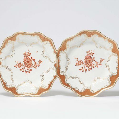 Meissen Königliche Porzellanmanufaktur Zwei Speiseteller aus dem Tafelservice mi…