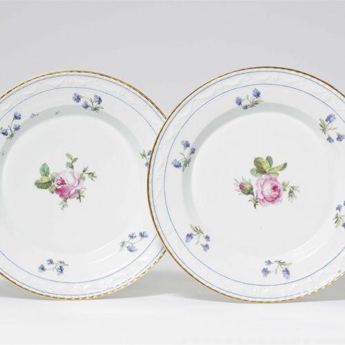 Königliche Porzellanmanufaktur Berlin KPM Zwei Speiseteller aus dem Tafelservice…