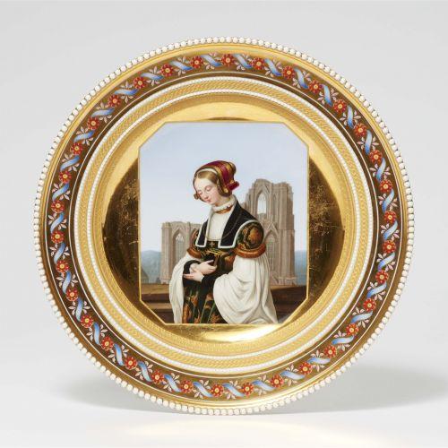 Louis Ammy Blanc, nach Königliche Porzellanmanufaktur Berlin KPM Dessertteller a…