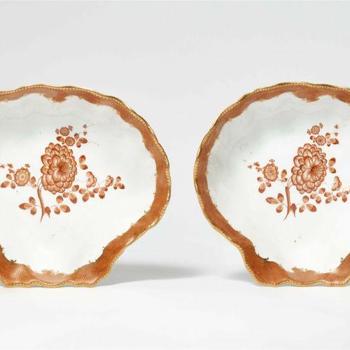Meissen Königliche Porzellanmanufaktur Paar Muschelschalen aus dem Tafelservice …