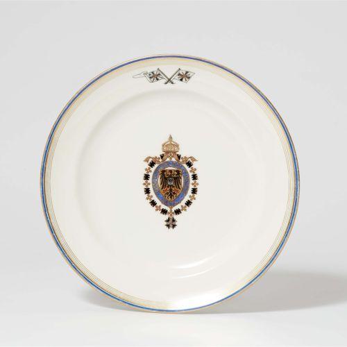 Königliche Porzellanmanufaktur Berlin KPM Teller aus einem Tafelservice für die …