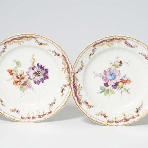 Königliche Porzellanmanufaktur Berlin KPM Paar Speiseteller aus dem Tafelservice…