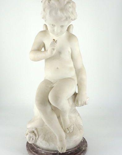 D'après Etienne Maurice Falconet (1716 1791) L'Amour menaçant White marble sculp…