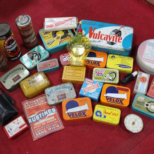Meeting of metal cans: VULCAVITE, FRICTION PROOFING, DUROL, RUSTINE, SCHELL buir…