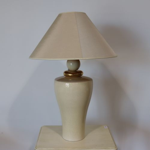 "Cracked earthenware lamp ""Drimmer"" Height with shade : 73 cm"