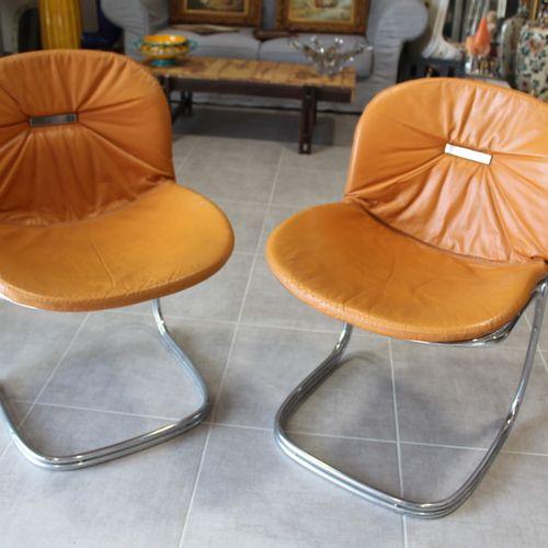 RINALDI Gastone RINALDI Gastone. Paire de chaises modèle SABRINA. Année 70, stru…