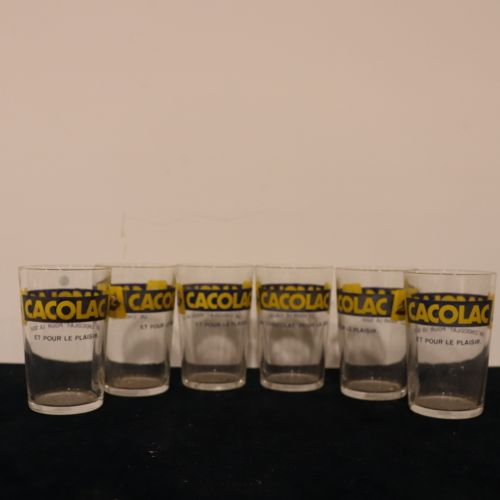 Set of 6 CACOLAC glasses in good condition