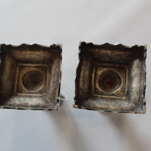 Candlesticks ends of table Carries the mongram AD (Alphonse DEBAIN) silver smith…