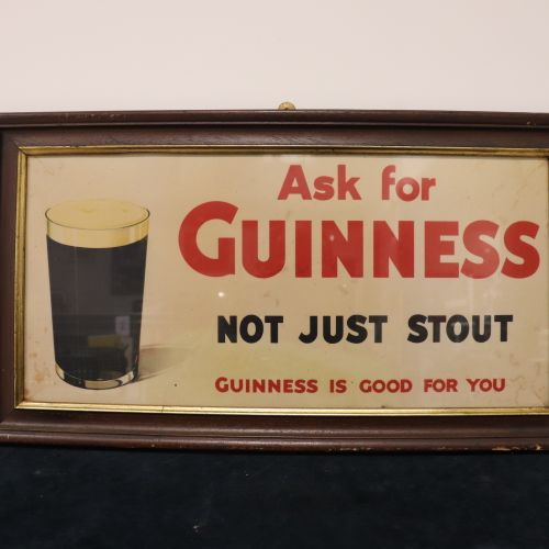Framed GUINNESS advertisement in very good condition, W66cm, H37cm