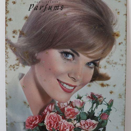 Sheet metal poster FORVIL PARIS FRANCE Perfumes (H34 x W24 cm)
