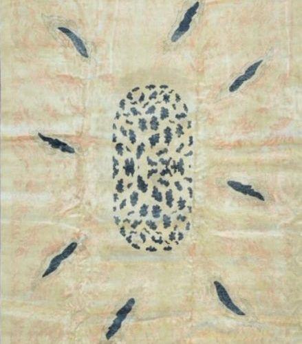 Original tapis moderne contemporain XXe siècle Velours en laine sur fondations e…
