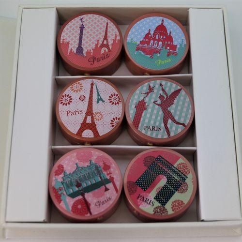 "Bourjois ""Bourjois fête paris""  Illustrated polychrome box containing 6 fancy bo…"